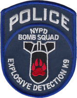 NEW YORK CITY POLICE DEPARTMENT SHOULDER PATCH: Explosives Detection K-9