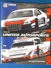 United Autosports 2011 Guest Programme inc 30/7/11 Event Schedule