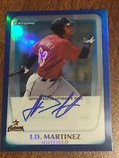 J.D. MARTINEZ 2011 Bowman Chrome Autograph Blue Refractor #75/150 RED SOX ASTROS