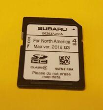 86283AJ66A 2014 Subaru Outback Subaru Legacy Navigation SD Navigation Card