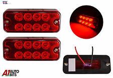2x 12v 8 LED Lateral Marcador Rojo Luces PARA EL CARRO FIAT DUCATO PEUGEOT VW