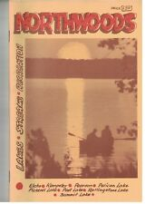 1984 Wisconsin Northwoods guide book, maps 27 lakes, streams, rivers