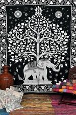 Tree of Life Hippie Elephant Tapestry Indian Ethnic Wall Hanging Queen Bedspread