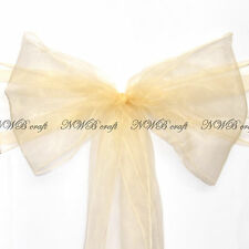 Large Size Organza Chair Cover Sashes Bow Wedding Party - High Quality UK Stock