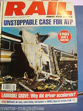 TRAIN RAIL ENTHUSIAST OCTOBER NOVEMBER 1999 NO 368 LADBROKE GROVE CRASH EWSR 67