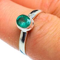 Zambian Emerald 925 Sterling Silver Ring Size 7.25 Ana Co Jewelry R40563F