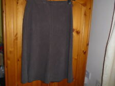 Brown herringbone pattern skirt, elasticated waist, MARKS AND SPENCER, size 12