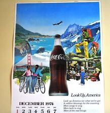 Bel vecchio Coca-Cola Calendario 1975 USA Coke calendario - Look Up, America