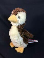 "Douglas Cuddle Toys Plush PENGUIN Small 6"" Brown & Yellow Bird"