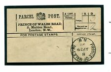 1499a 1898 GB ROYALTY London Unusual Parcel Post Label