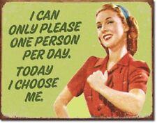 Ephemera I Choose Me Distressed Humor Retro Funny Wall Art Decor Metal Sign New