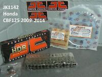 HONDA CBF 125 HEAVY DUTY JT CHAIN AND SPROCKET KIT 2009-2014 M9 MA MB MC MD