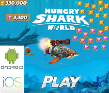 Hungry Shark World Ios and Android Gems Coins