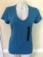 Banana Republic Women`s  V Neck Timeless Short Sleeve Tee T Shirt Top S Sz NWT
