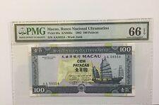 """1992 Macau,Banco Nacional Ultramarino 100 Patacas P-68a """" AA """" Prefix"""
