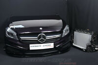 Mercedes W176 A45 AMG Front PAKET Kühler Motorhaube Stoßstange Träger Bi-Xenon
