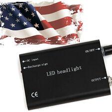 Portable LED Head Light Lamp for Dental Surgical Binocular Loupe//* black- US