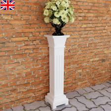 Classic Flower Plant Stand Square Pillar Mdf Wood Garden Patio Yard Decor Chic