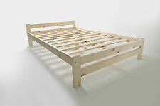 Solid Pine Double Bed Frame With Mattress 4ft6 Frame Only
