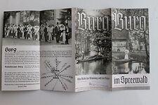 23995b Reise Prospekt BURG im Spreewald 1937 Reiseführer LFV viele Fotos