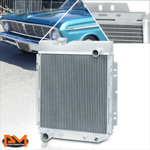 For 65-66 Ford Mustang/Mercury Comet L6/V8 Aluminum Core 3-Row Cooling Radiator