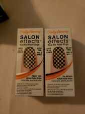 Lot Of 2 Sally Hansen Salon Effects Real Nail Polish Strips Check Please