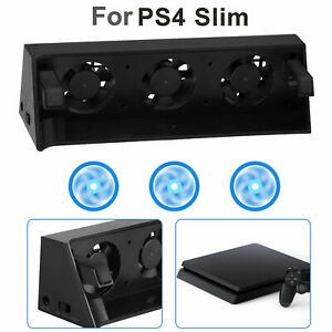 3Fan Cooler Temperature Control External Cooling Fan  for Playstation 4 PS4 Slim