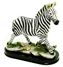 Zebra Running Figurine on Base - Resin