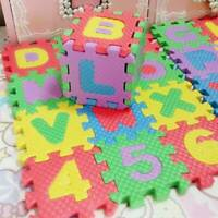 36pcs ALPHABET/NUMBER PLAY MAT TODDLERS CHILDREN SOFT FOAM JIGSAW PUZZLE A-Z