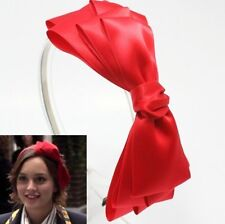 CUTE GOSSIP GIRL RED BIG RIBBON BOW HEADBAND HAIR ACCESSORY HAT BAND HB1257