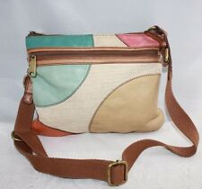 Fossil Crossbody Shoulder Bag Leather and Canvas