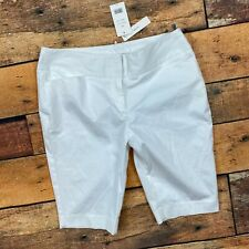 Vince Bermuda Shorts Size Medium Womens White Stretch
