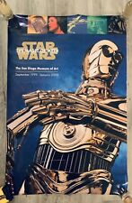 """Star Wars Magic of Myth Smithsonian Museum C-3PO Poster October 1997-98 27/""""x35/"""""""