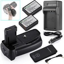 Battery Grip For Canon Rebel T5 T3 EOS 1100D + LP-E10 Batteries +Charger + Strap