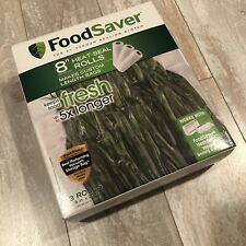 """New listing FoodSaver 8"""" x 20' Vacuum Seal Roll Bpa-Free Multilayer Construction 3 Pack"""