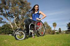 FreeWheel Wheelchair Attachment- Pneumatic tire- Black -Rigid -Standard footrest