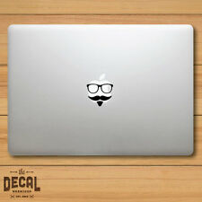 Hipster Glasses with a Mustache Macbook Sticker / Macbook Decal / Cover / Skin