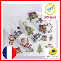 🎄 LOT DE 2 NAIL ART NOEL - MANUCURE ONGLES DECO - STICKER AUTOCOLLANT