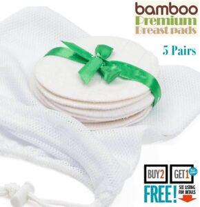 10 x Breastfeeding Pads Nursing Set Reusable Breast Washable Maternity Bamboo UK