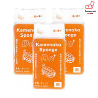New Kamenoko tawashi(Turtle Baby) 3 Sets Kitchen Sponge Do Square Orange F/S