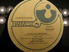 """Duran Duran 1981 3-Track PROMO 12"""" Record Careless Memories Is There Anyone Out"""