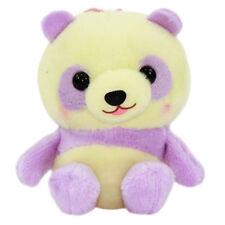 Panda Plush Doll Cute Stuffed Animal Amuse Bear Japanese Strap Keychain Yellow