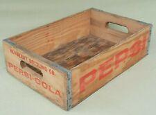 More details for vintage pepsi cola newberry bottling co wooden bottle crate ~ wood box