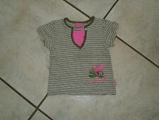 =Traum T-Shirt PAMPOLINA Gr.80 khaki-weiß pink Jungle Paradise 20 Salamande wNeu