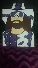 wwe macho man randy savage wrestlemania hand painted canvas 30x40cm