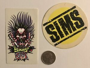 vintage 80's skateboard stickers - SIMS Kevin Staab