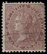 1860s? EAST INDIA Stamp - 1 Anna, Queen Victoria A7a