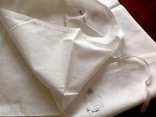 Vintage WW2 George VI Stamped White Unused Cotton Pillow Cases X 2
