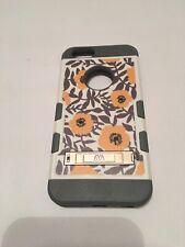 Iphone 6 mybat case gery white flowers with kickstand