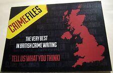 Advertising British Crime Writers - unposted